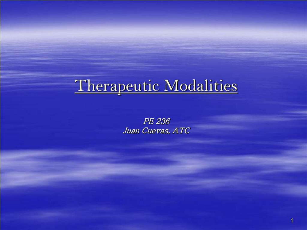 therapeutic modalities pe 236 juan cuevas atc l.