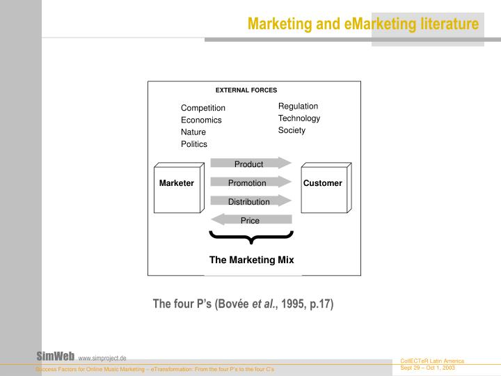 Marketing and emarketing literature