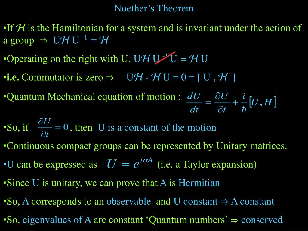 Noether's Theorem