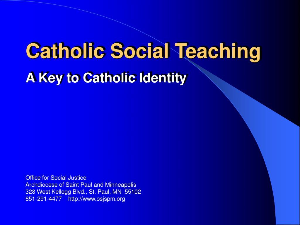 catholic social teaching l.