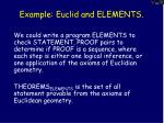 example euclid and elements