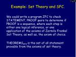 example set theory and sfc