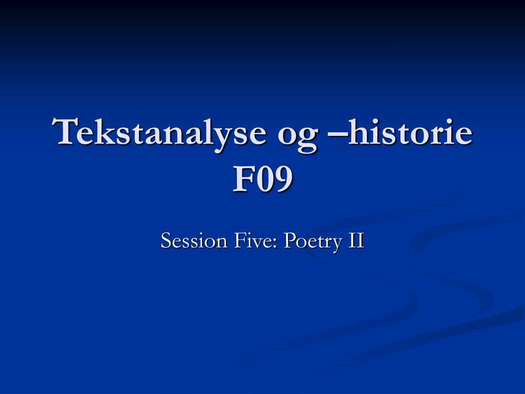 tekstanalyse og historie f09 l.