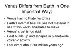 venus differs from earth in one important way