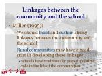 linkages between the community and the school