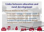 links between education and rural development16