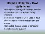 herman hollerith govt statistician
