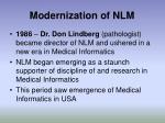 modernization of nlm