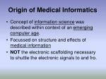 origin of medical informatics6