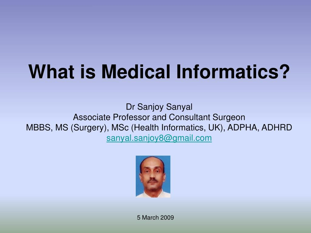 what is medical informatics l.