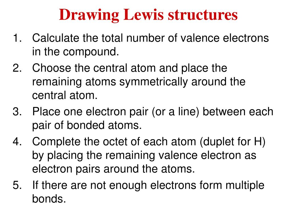 drawing lewis structures l.