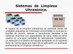 sistemas de limpieza ultras nica