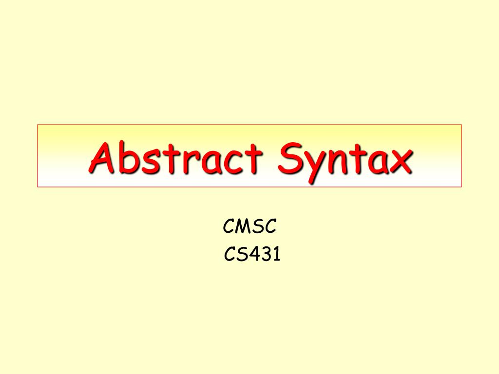 abstract syntax l.