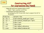 constructing ast for expressions by hand