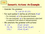 semantic actions an example
