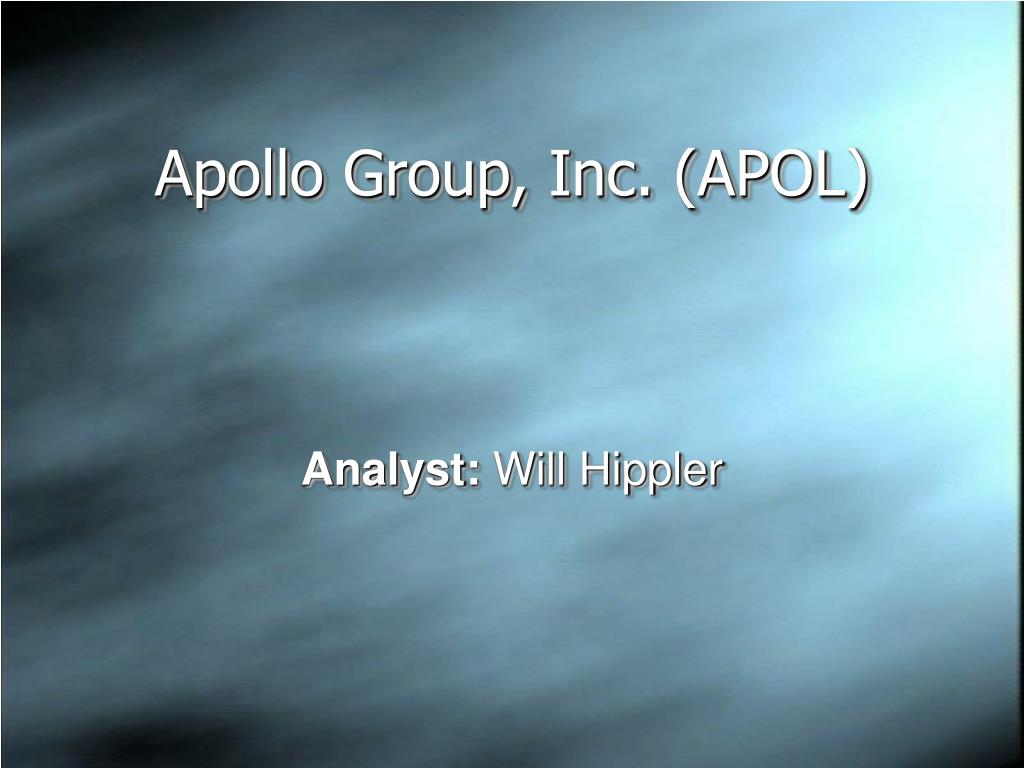 apollo group inc apol l.