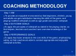 coaching methodology