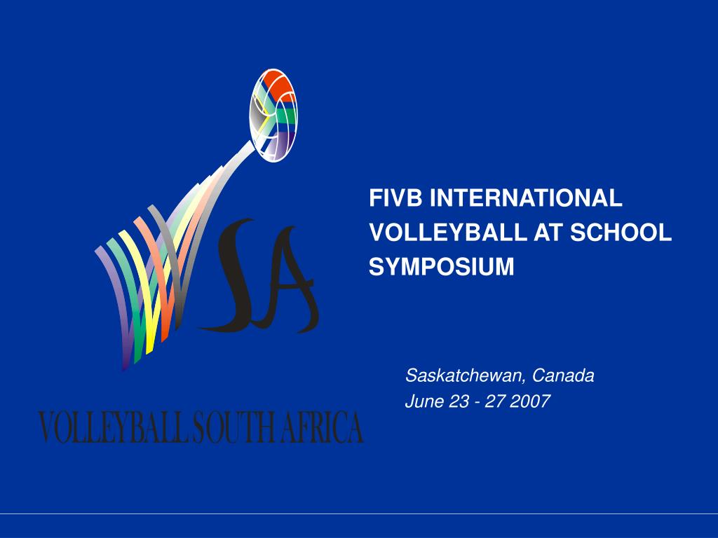 fivb international volleyball at school symposium l.