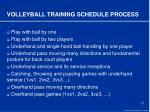 volleyball training schedule process