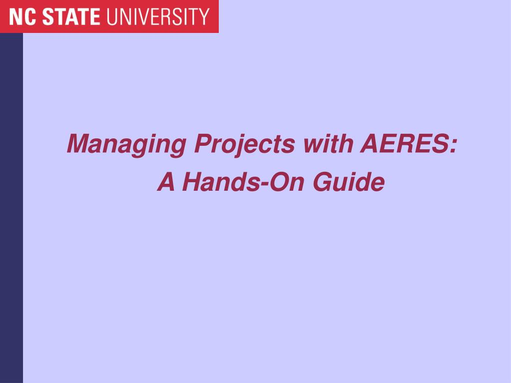 managing projects with aeres a hands on guide l.