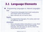 3 1 language elements6