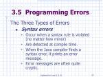 3 5 programming errors