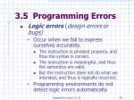 3 5 programming errors59