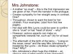 mrs johnstone