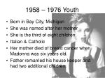 1958 1976 youth