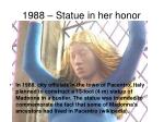1988 statue in her honor
