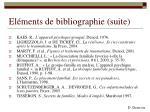el ments de bibliographie suite