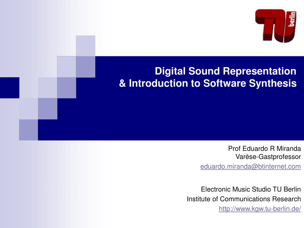 digital sound representation introduction to software synthesis l.