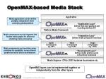 openmax based media stack