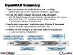 openmax summary