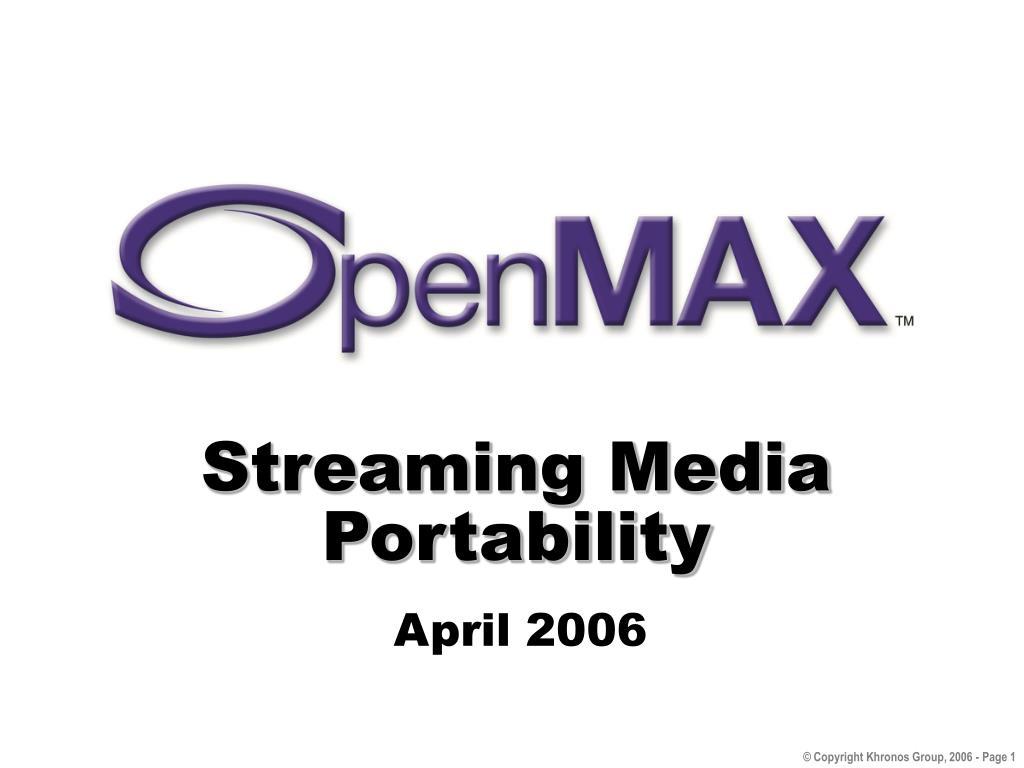 streaming media portability l.