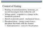 control of gating
