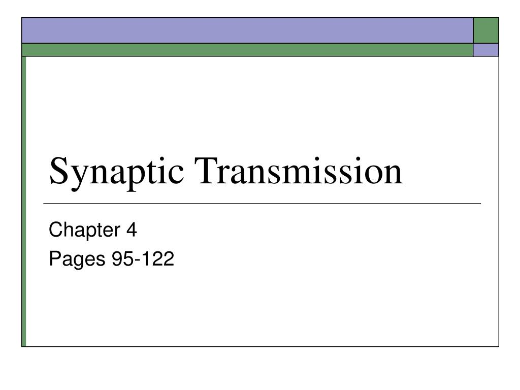 synaptic transmission l.