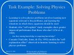 task example solving physics problems