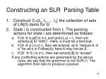 constructing an slr parsing table