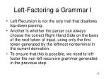 left factoring a grammar i