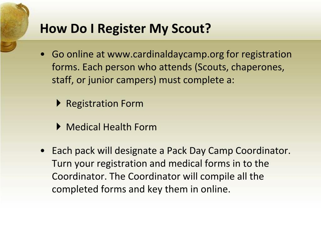 How Do I Register My Scout?