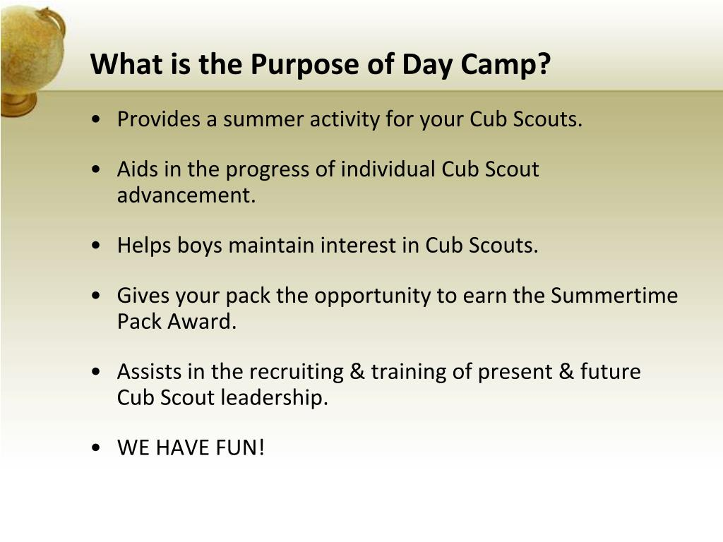 What is the Purpose of Day Camp?
