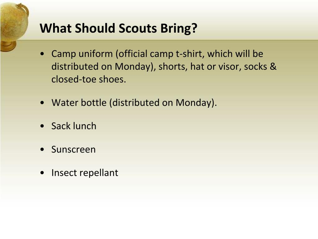 What Should Scouts Bring?