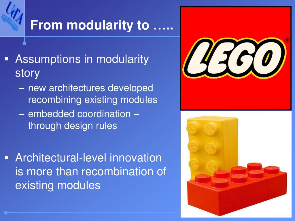 Assumptions in modularity story