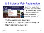 jls science fair registration