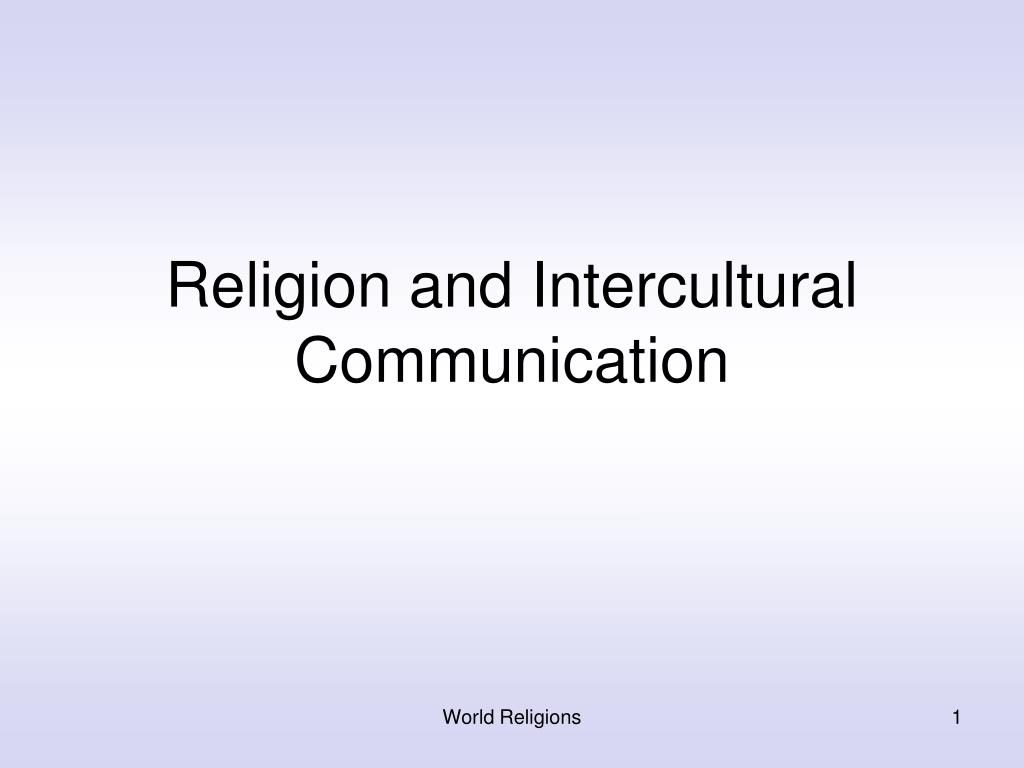 religion and intercultural communication l.
