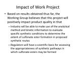 impact of work project