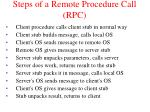 steps of a remote procedure call rpc