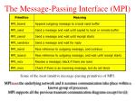 the message passing interface mpi