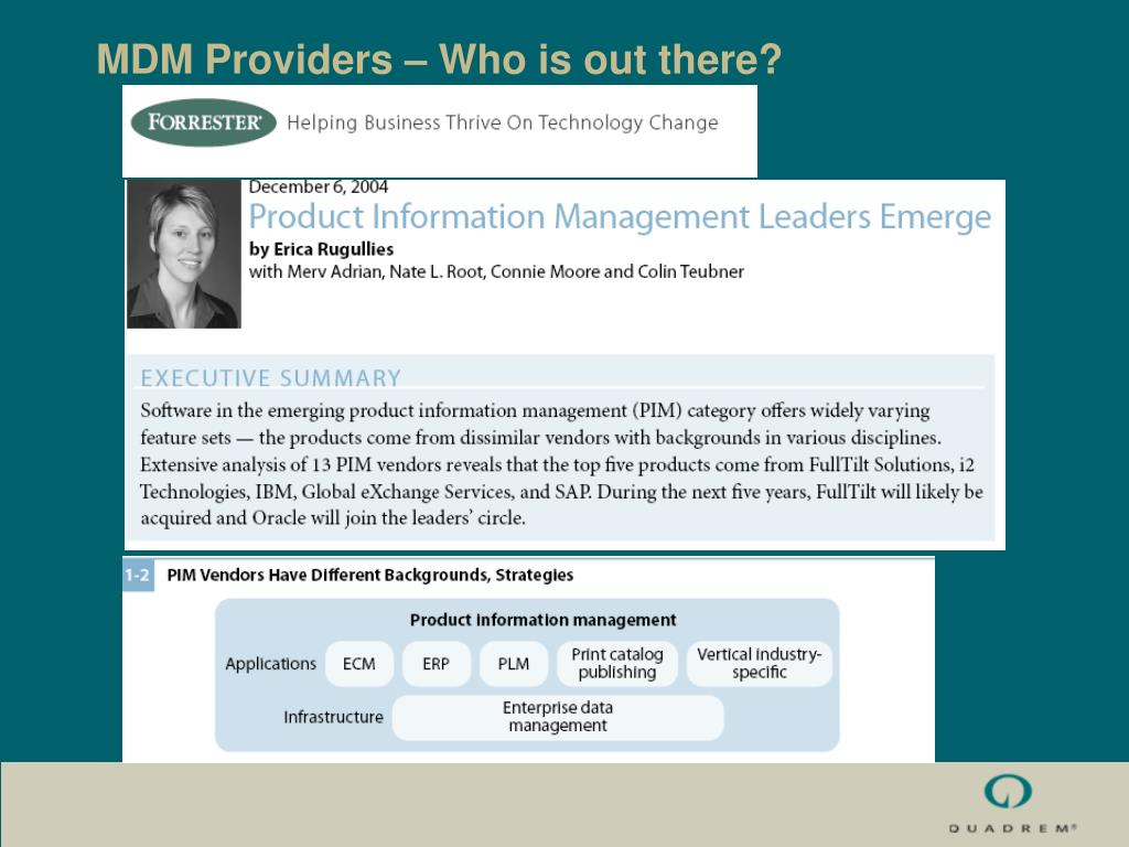 MDM Providers – Who is out there?